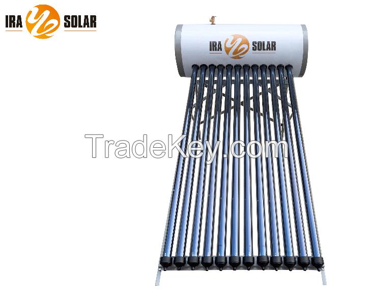 Heat pipe pressurized solar water heater 150L12tubes-GL model(25degree)