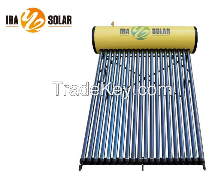 Heat pipe pressurized solar water heater 200L20tubes