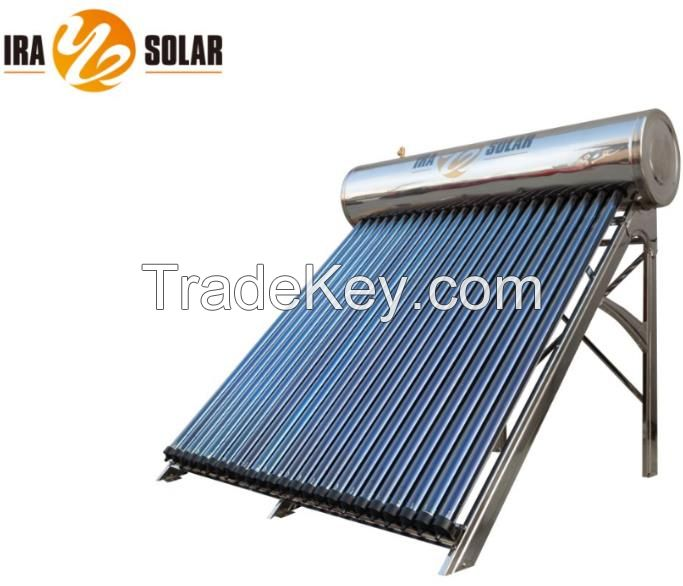 Heat pipe pressurized solar water heater 240L24tubes