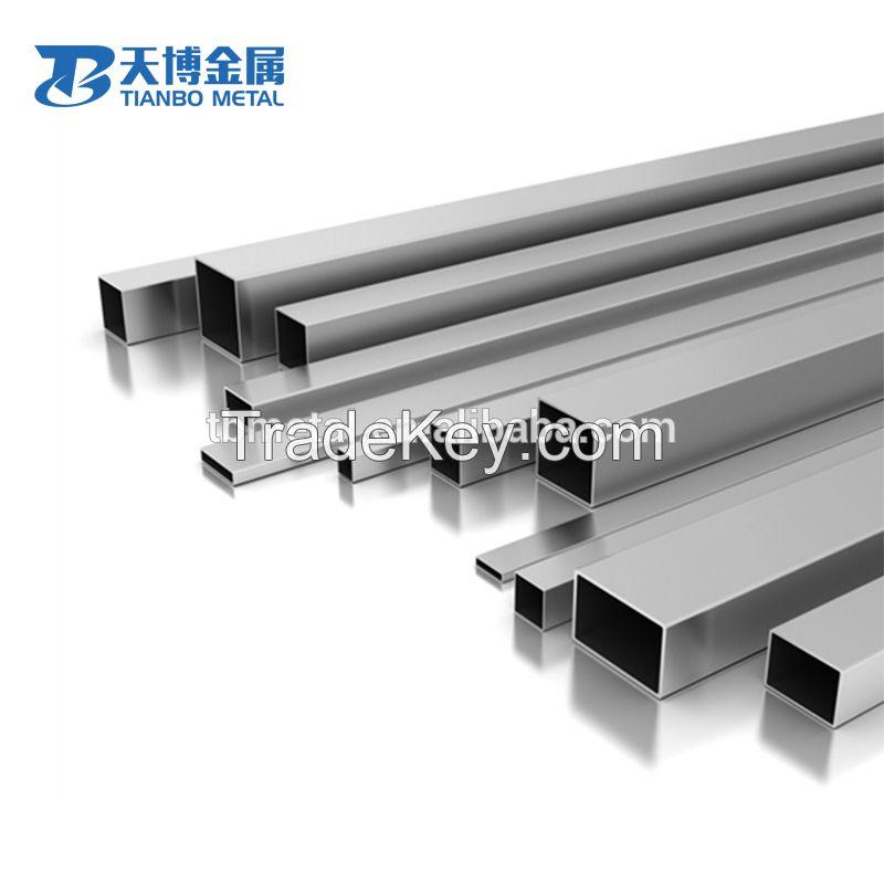 High quality GR1 GR9 titanium rectangular titanium square tube for industry