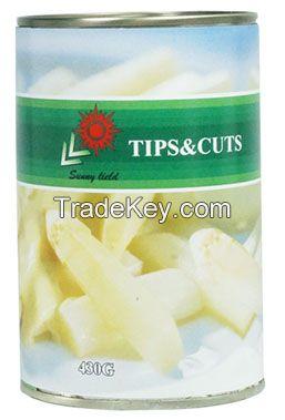 Canned or glass jar asparagus