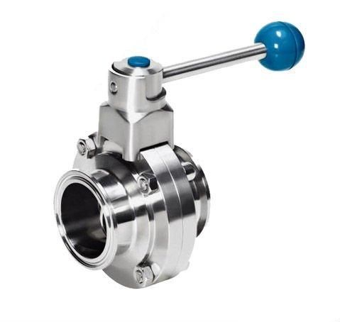 Sanitary butterfly valve with clamp Stainless Stee(304/316L)