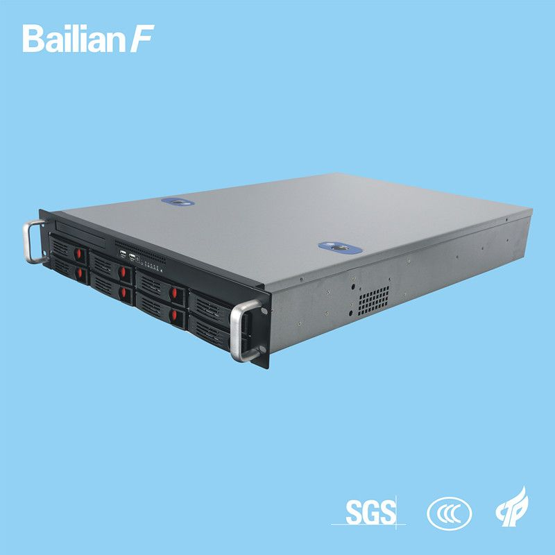 2u 8 Bay Rack Server Customized Server Xeon E5 for Storage IPTV Monitoring Hotel Movie Government It Company etc