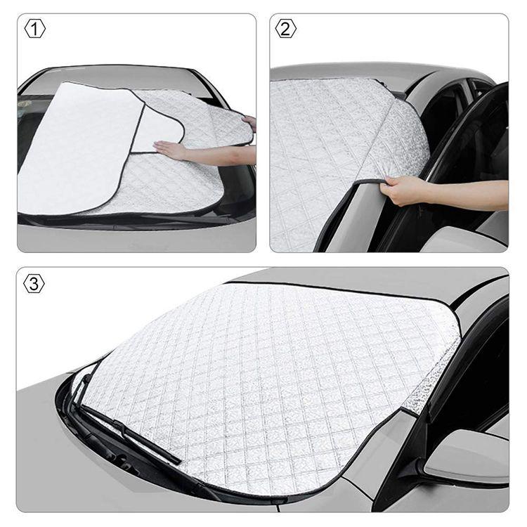 Premium 4 Layers Aluminum Foil Sunshade Waterproof Car Windshield Snow