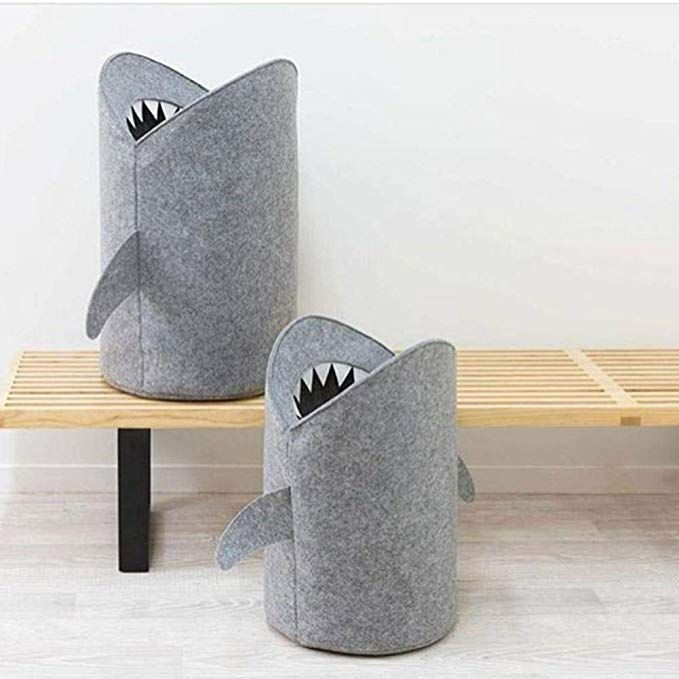 Shark Felt Toy Organizer,Storage Basket