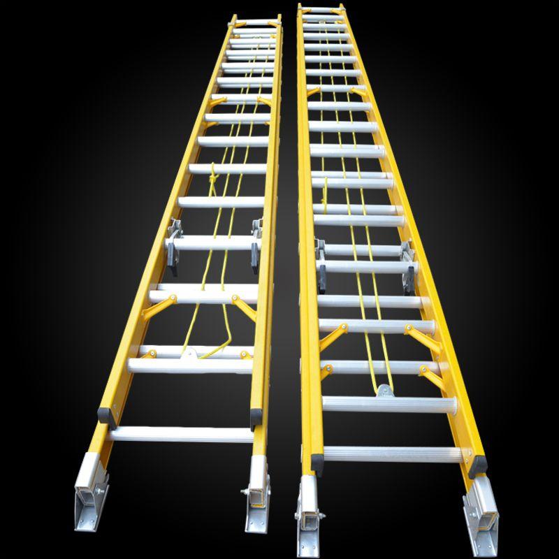 Heavy Duty Fiberglass Extension Ladder / Telescopic Ladder