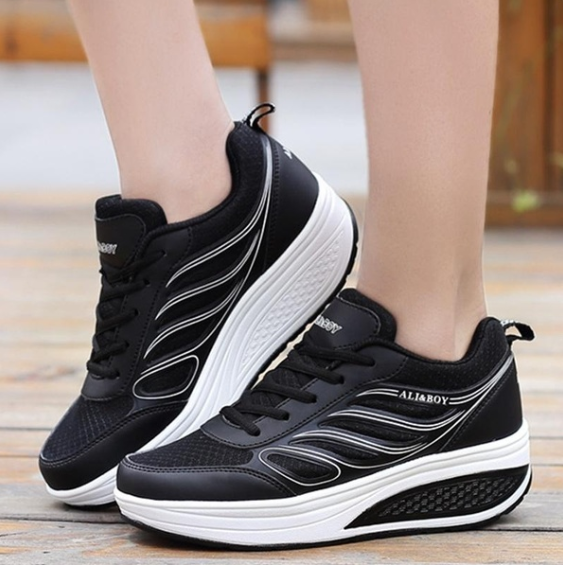 Women Sneakers Fashion Casual Shoes Thick Sole Sport Shoes Slimming Shake Shoes