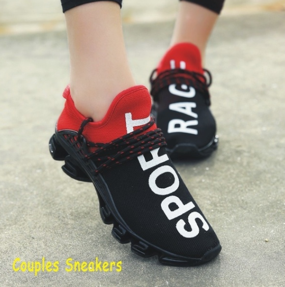 Sport Shoes Summer Men Women Running Shoes Fashion Sneakers Breathable Mesh Couple Size
