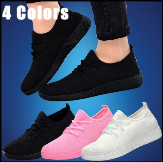 New Fashion WomenMen's Casual Running Sport Shoes Man Breathable Shoes Fashion Flat Shoes