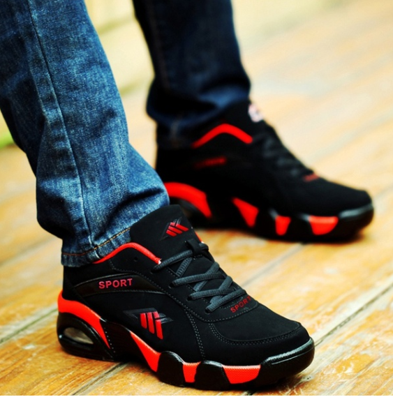 AutumnWinter Men Sport Shoes Damping Sneakers for Men