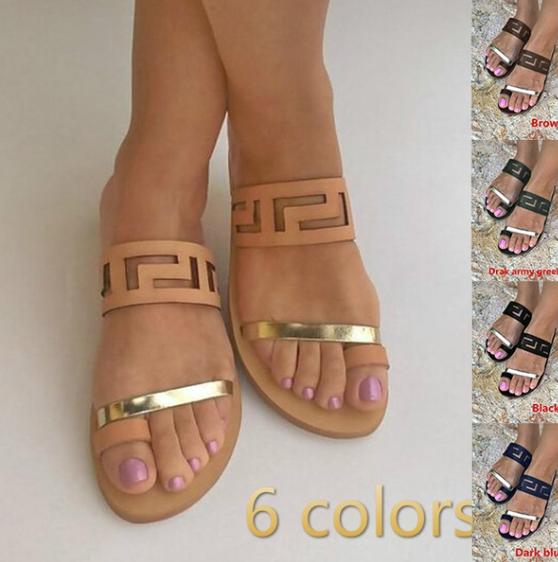 women fashion summer beach flip flop sandals hollow out High Quality Women Beach Slippers Fashion Female Casual Open Toe Flats Women Summer Women Flip Flop