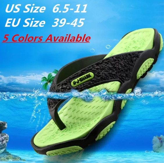 6 Colors Men's EVA Flip Flops Men Lightweight Summer Slippers Beach Sandals for Man