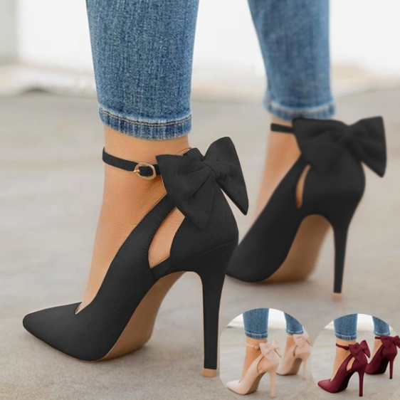 New Arrival Women's Fashion Spring Summer Casual Shoes Stiletto High Heel Sandals High Quality Sandals Ladies Fashion Sexy Bandage Lace Up Evening Party Wedding Shoes Solid Color Cute Bow Tie Girl Tr