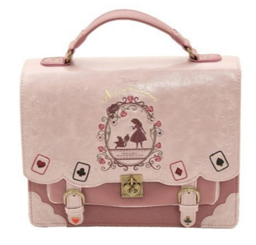 Lolita Style Women Alice in Wonderland Designer Embroidery Handbag Fashion Girls Sweet Messenger Bag School Backpacks Sacos De Mulheres