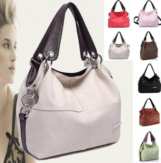 Euramerican Spliced Messenger Shoulder Bag Women Handbag