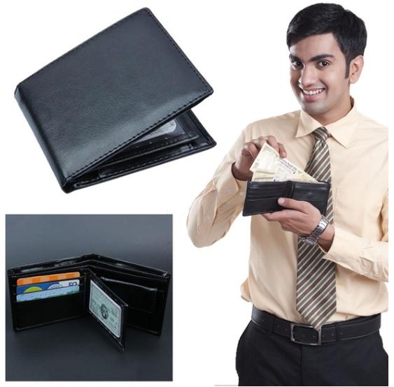 Men Wallets Genuine Leather Short Wallet Male Business Purse Card Holder Large Capacity