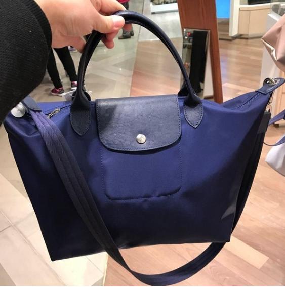 Fashion Women Folding Handbag High Grade Nylon Waterproof Bag with Shoulder Strap Shopping Bag Crossbody Bag High Capacity Tote Bag