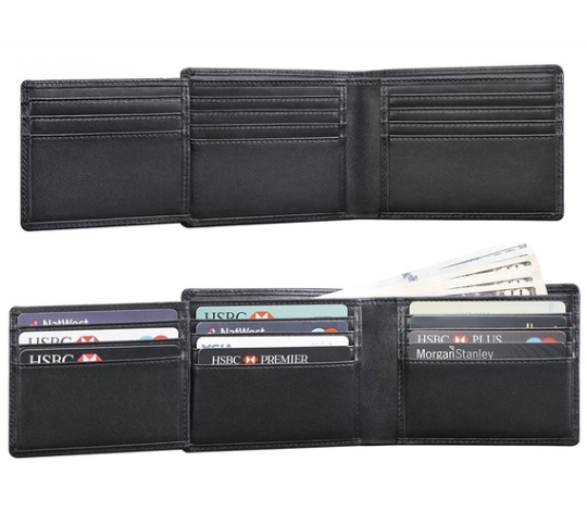 Genuine Leather Wallets for Men  ES RFID Blocking Wallet with ID Window Flap  Large Capacity Wallet