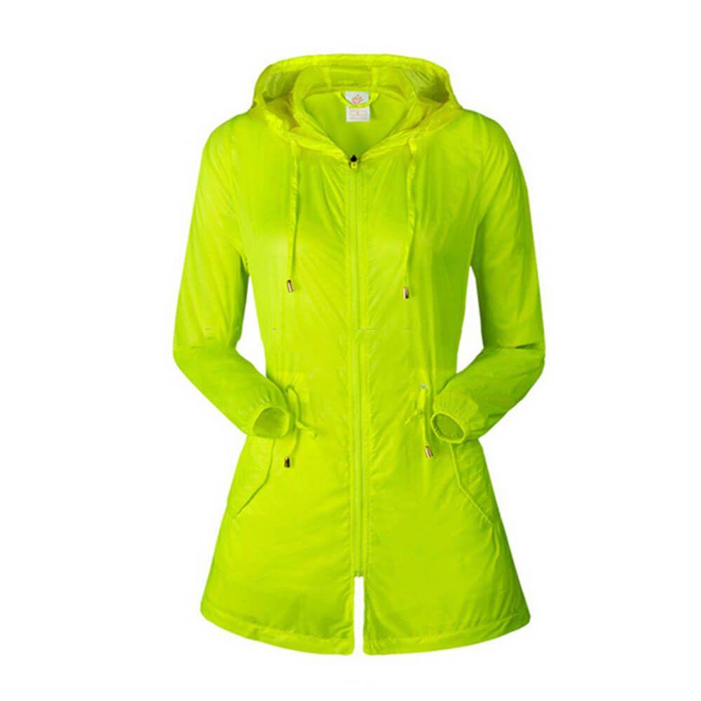 Hooded breathable waterproof windproof anti-UV 20D Nylon Windbreaker Summer Jacket