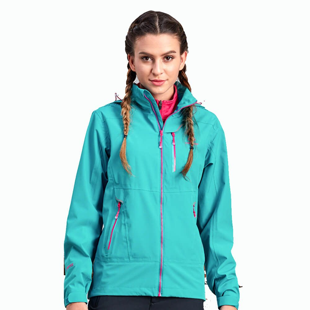 Women Sports 75D Fleece Jacket Casual Windproof Warm Outdoor Hooded Jacket