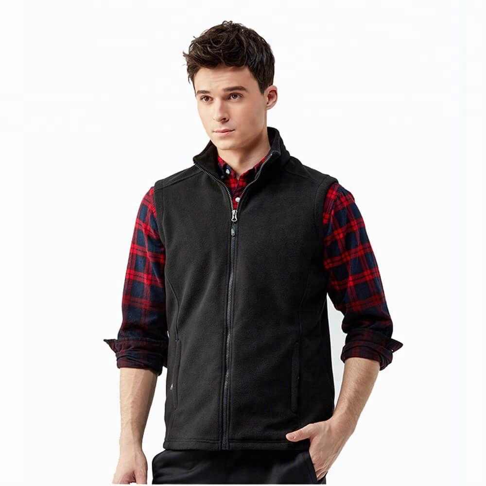 New Zipper Up Mens Sleeveless Warm Vest 320gsm Fleece Vest
