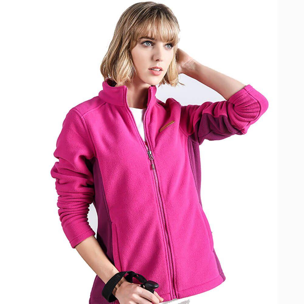 Custom Workout Streetwear Anti-pilling Woman Polar Fleece Jacket