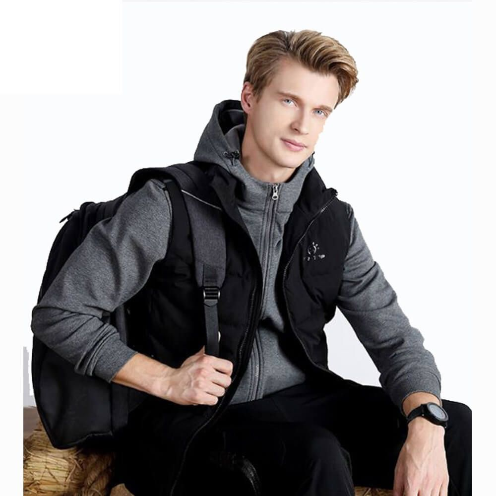 Wholesale Men Thick Camping Windproof 100% Nylon Vest Duck Down Waistcoats