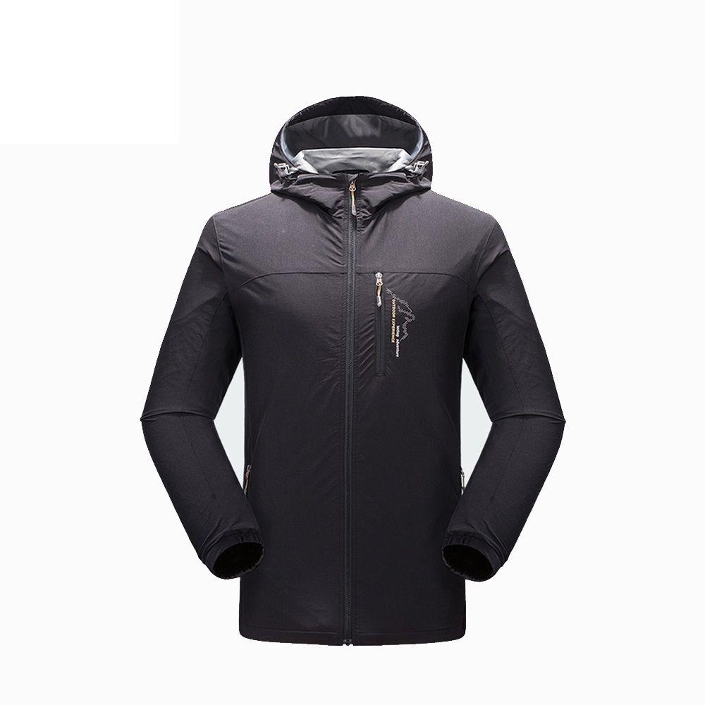 Man Solid Windbreaker Embroidery Technic Outdoor Jacket Spring Autumn Jacket