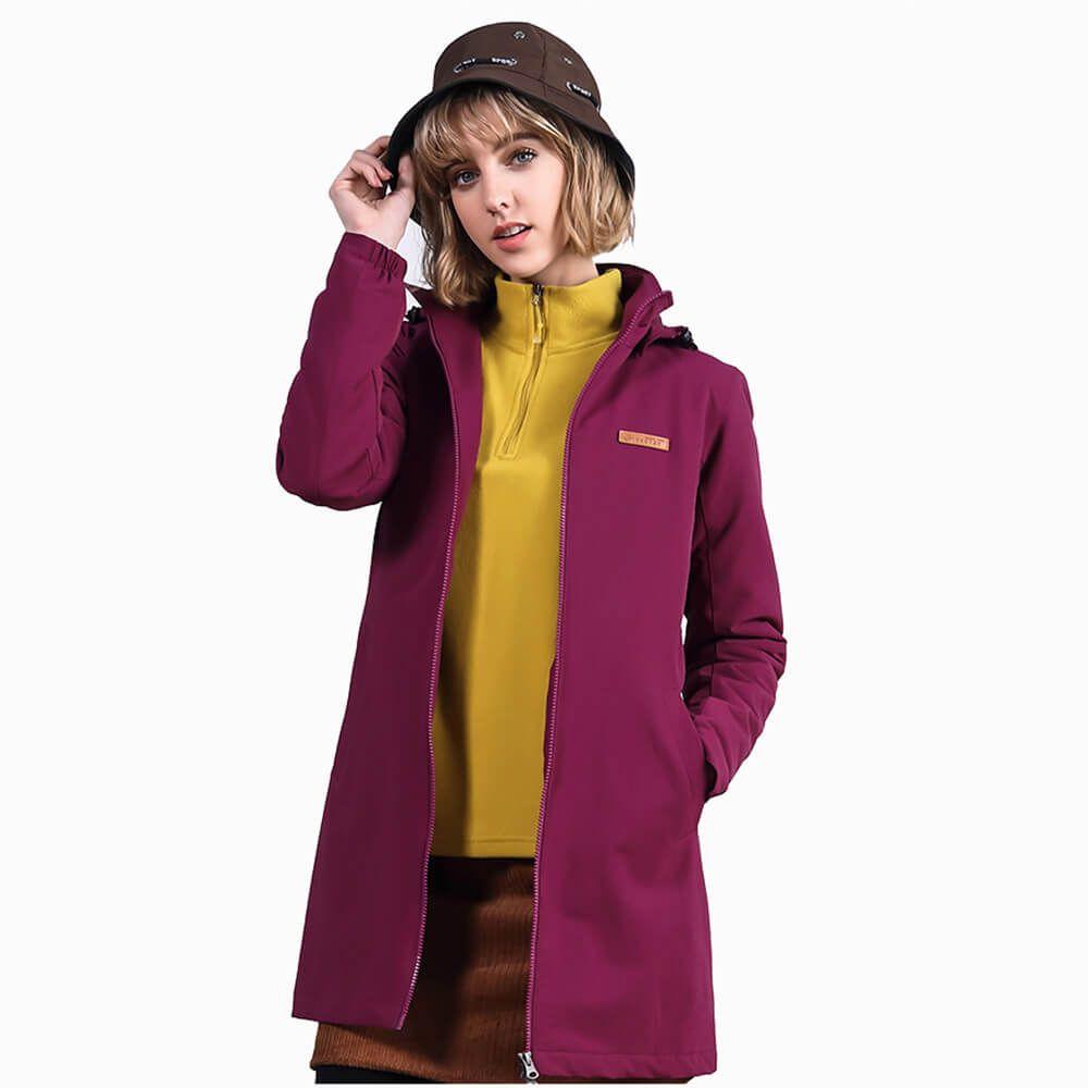 Winter Women 100% Nylon Windbreaker Long Cotton-padded Jacket Coat