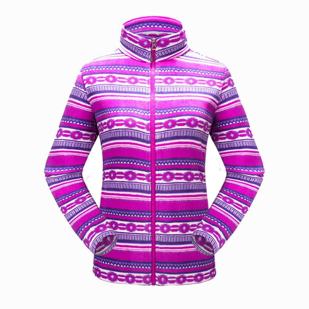 Wholesale Windbreaker Soft Outdoor Printing Polar Fleece Jacket