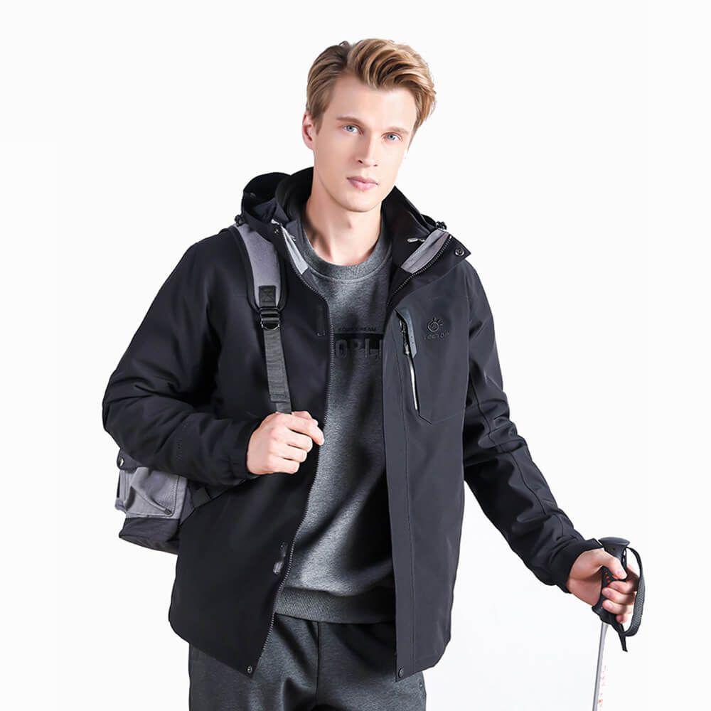 Cheap Mens Softshell Hiking Waterproof Warm Plain Outdoor Jackets
