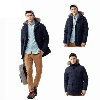 Wholesale Winter 99% Polyester Duck Down Windproof Mens Coat Thick Fashion Coat