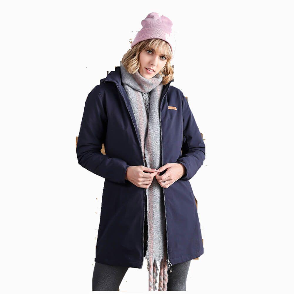 Winter Womens Cotton Padded Long Coat Women Long Jacket
