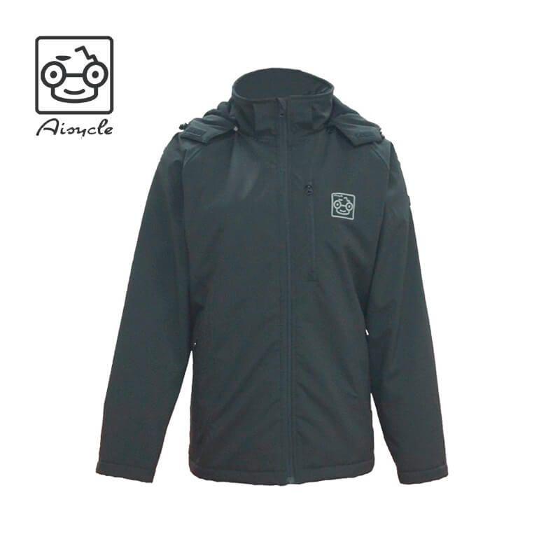 Aisycle Design Long Heated Jacket Waterproof Softshell Micro-fleece Liner 5V Battery Powered Jacket