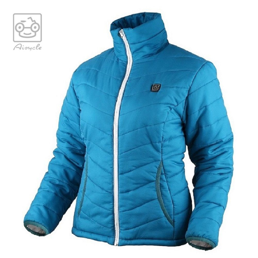 Female Cordless Battery Powered Heated Down Jacket