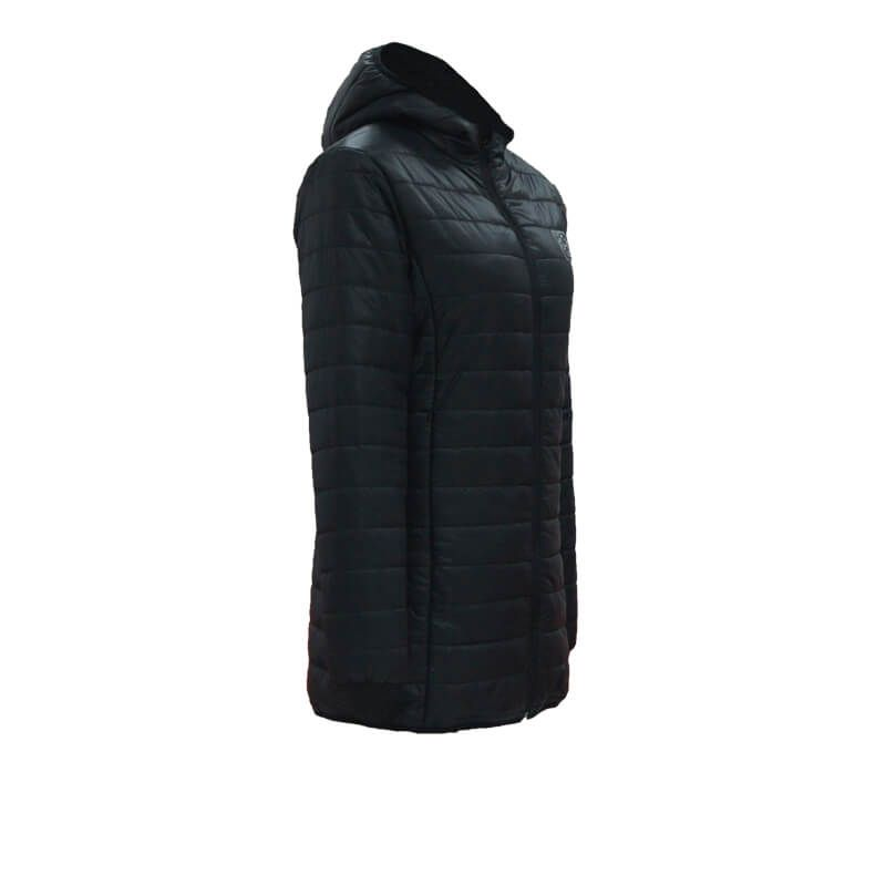 USB Electric Heated Warm Women Long Rechargeable Heating Padded Coat Jacket