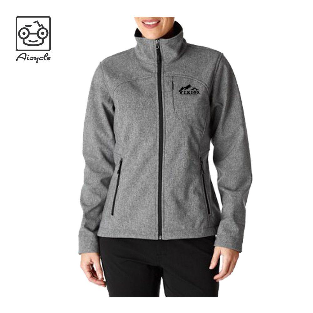 Heather Grey Women Softshell Jacket Windproof