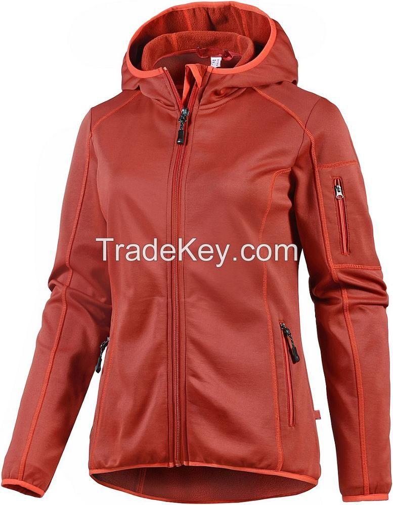 2019 Fashion Design Lady Slim Fit Softshell Jacket Blue White Red Gree