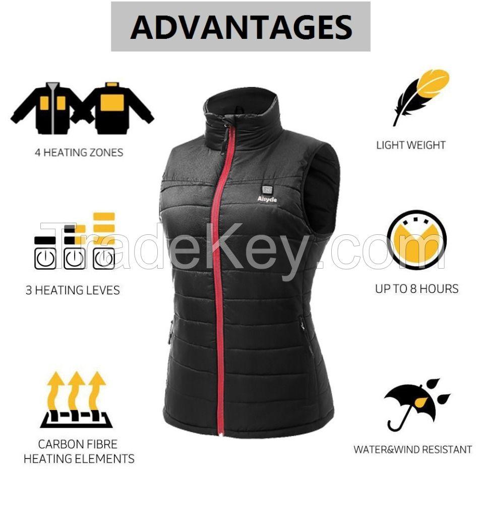Best Mens Womens Battery Heated Vest Padded Vest Warm Down Vest