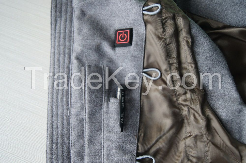 Womens USB Battery Heated Padded Vest, Chaleco caliente,Woolen Outer Shell Vest For Hunting