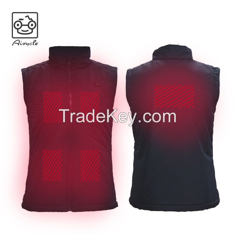 Womens USB Battery Electric Heated Vest For Motorcycle