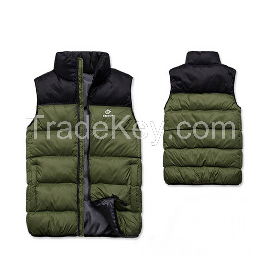 Wholesale Winter Lightweight Apparel Manufacturer Padded Vest Jacket Mens Womens