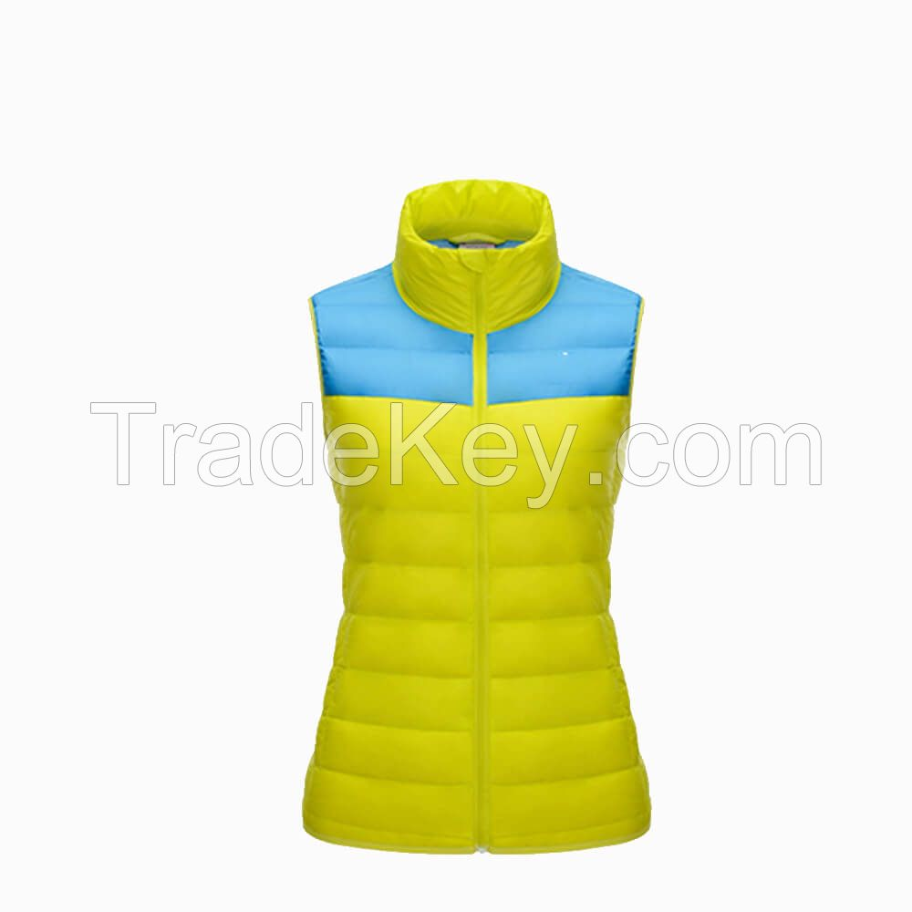 China Wholesale Women Winter Sleeveless Warm Down Vest