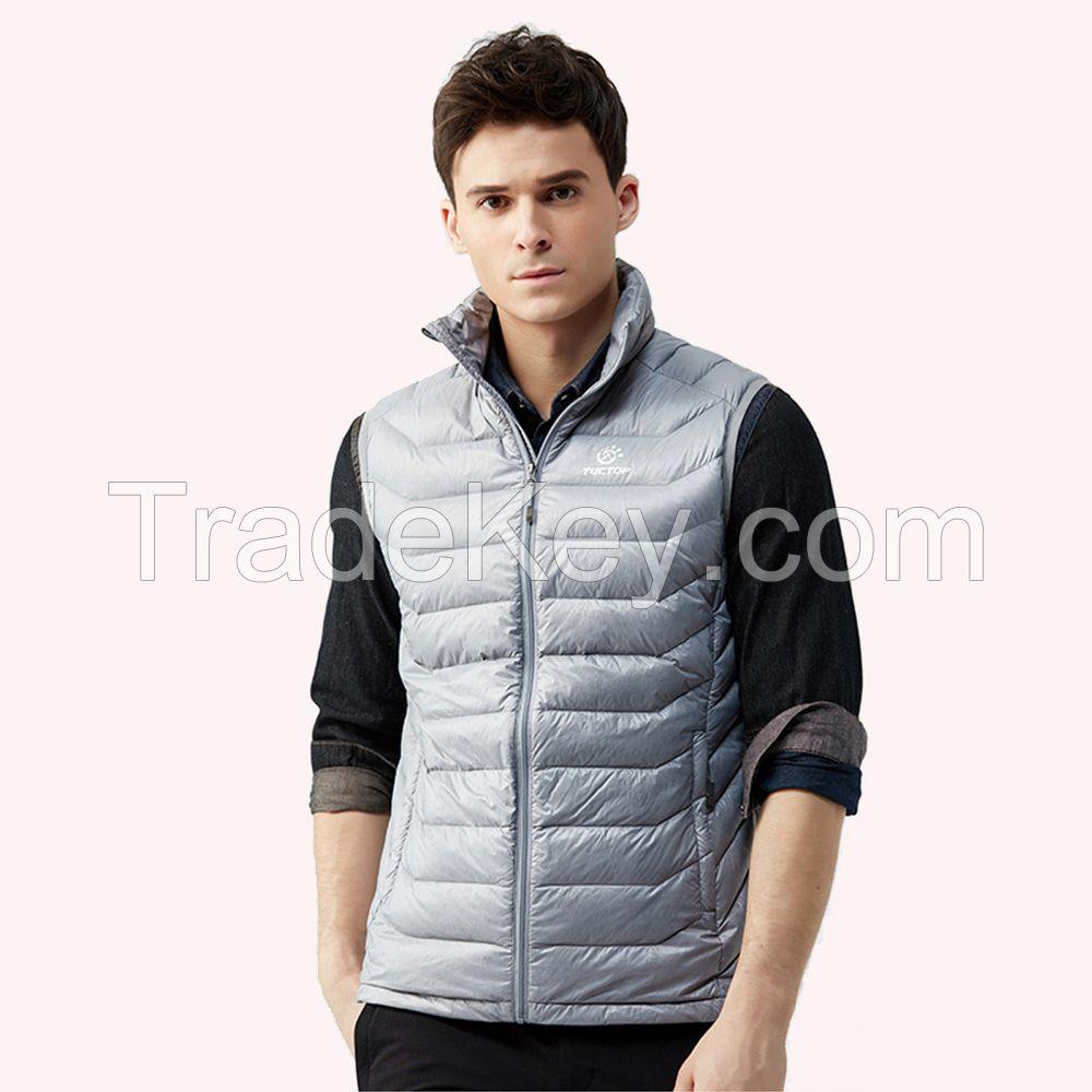 Fashion Men's Winter Nylon Warm Sleeveless Down Vest