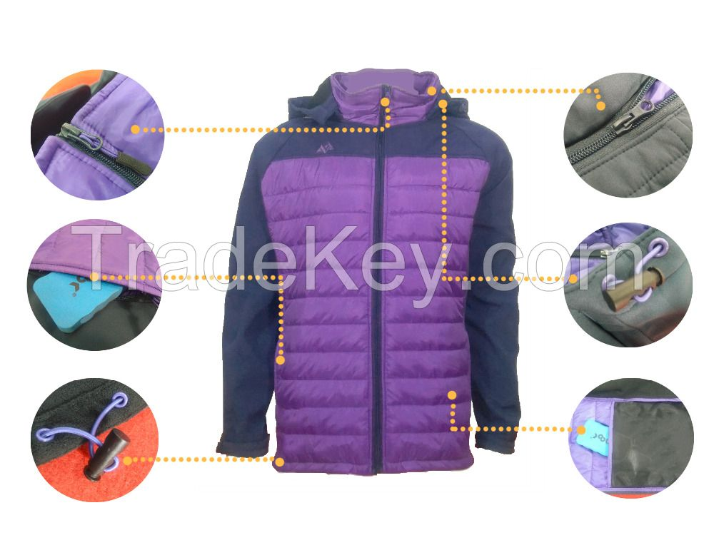 Womens Clothing Seamless Softshell - Down Composite Coat