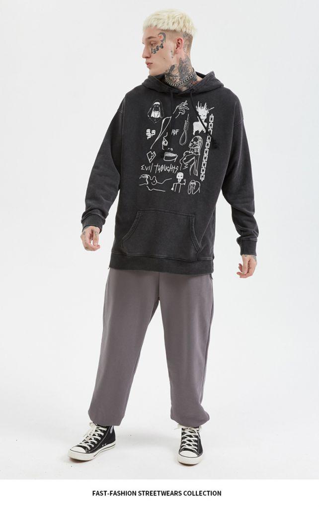 Sweatshirt Men Medusa head statue Men's Hoodies Funny Print michaelangelo Harajuku Fun Hoodie Men streetwear drop shipping Tops