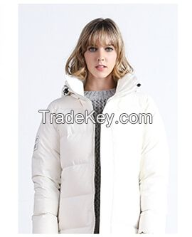 High Quality Women Windproof Plain Hooded Long Thick Padded Jacket for Winter