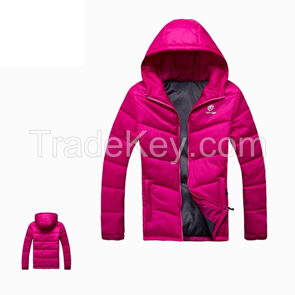 Girls Foldable Fake Down Jacket Womens Cotton Padded Jacket 100% Polyester Lining