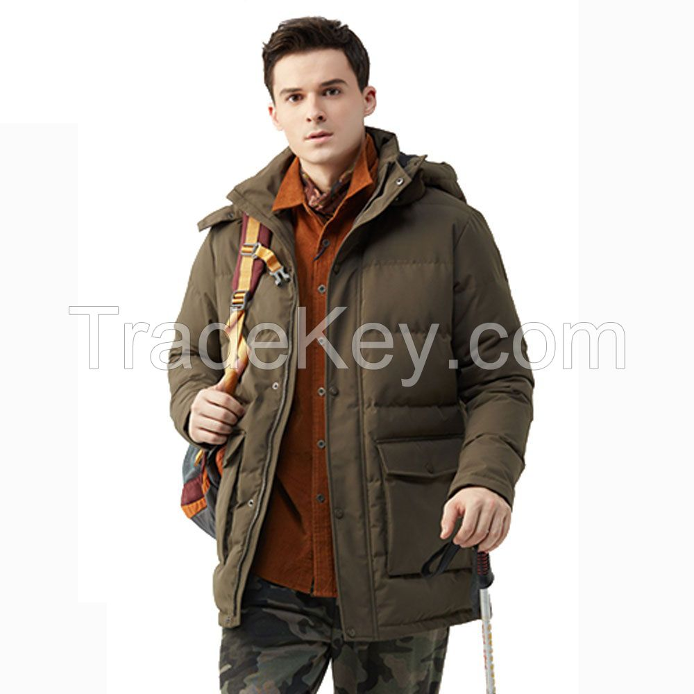 OEM Warm Windproof Outdoor Winter Clothes Man Down Jacket