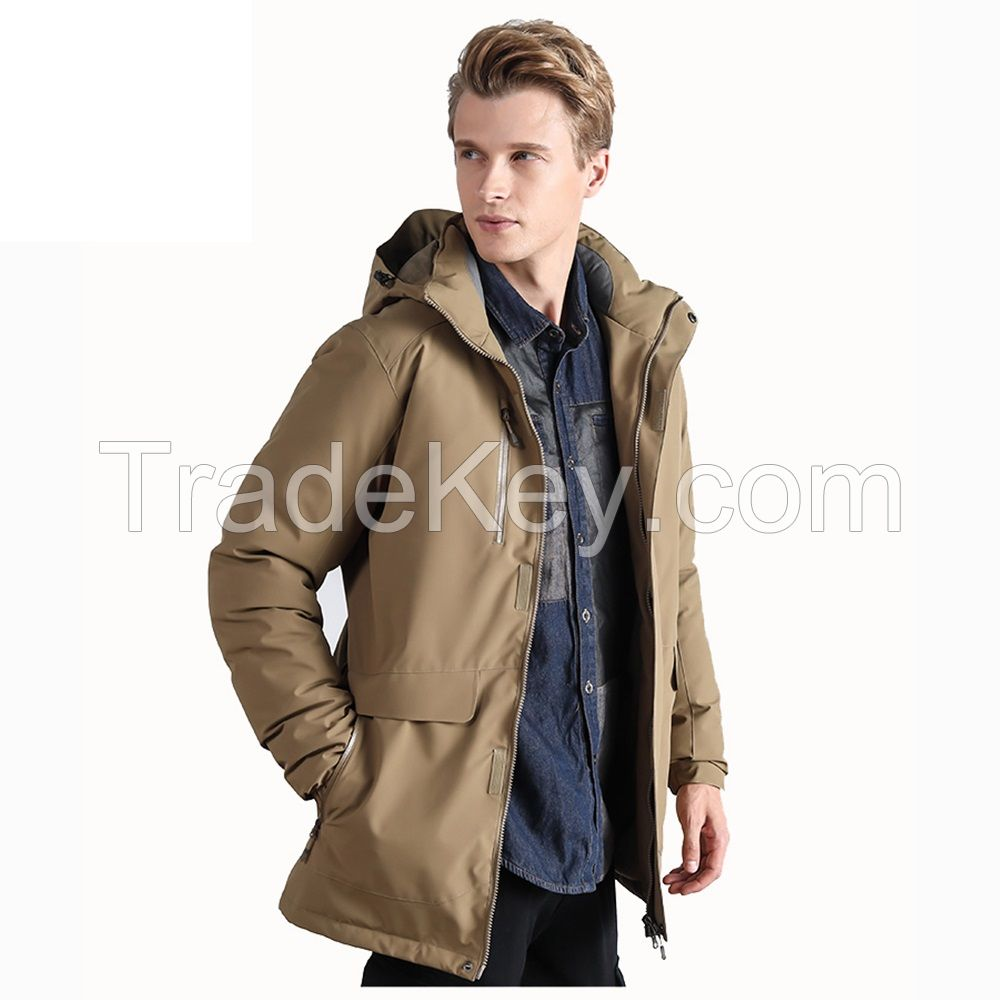 High Quality Hooded Windproof Nylon Winter Duck Down Men Jacket